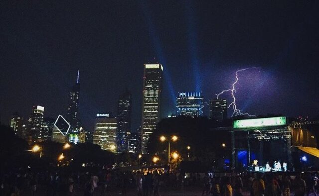 Lightning at Lolla